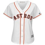 Majestic Women's Houston Astros George Springer #4 Authentic Cool Base Home Jersey - view number 3