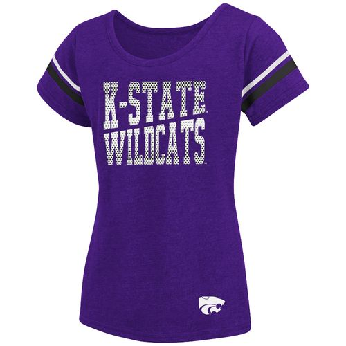 Colosseum Athletics™ Girls' Kansas State University Fading Dot T-shirt