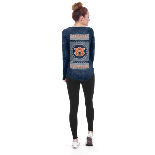 Chicka-d Women's Auburn University Favorite V-neck Long Sleeve T-shirt