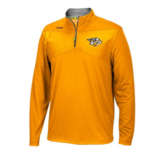 Reebok Men's Nashville Predators Center Ice® 1/4 Zip Pullover
