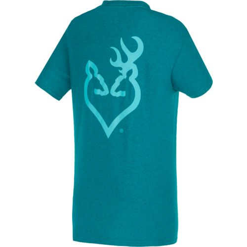 Browning Women's Aqua Buckheart T-shirt - view number 1