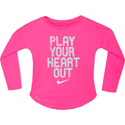 Nike™ Girls' Play Your Heart Long Sleeve T-shirt