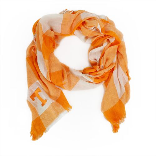 ZooZatz Women's University of Tennessee Buffalo Check Collegiate Scarf