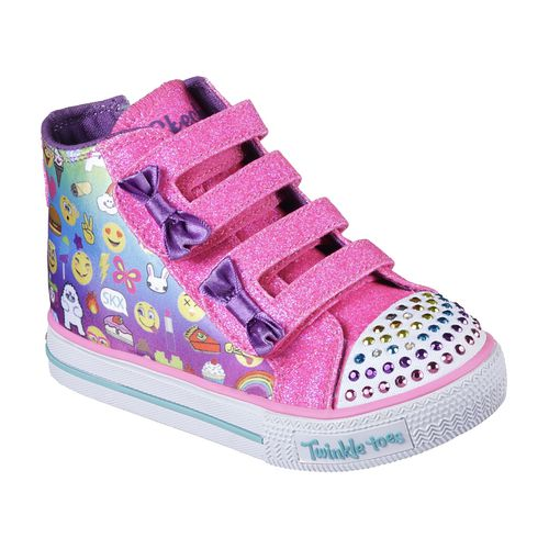 Display product reviews for SKECHERS Toddlers' Twinkle Toes Shuffles Baby Talk Casual Shoes