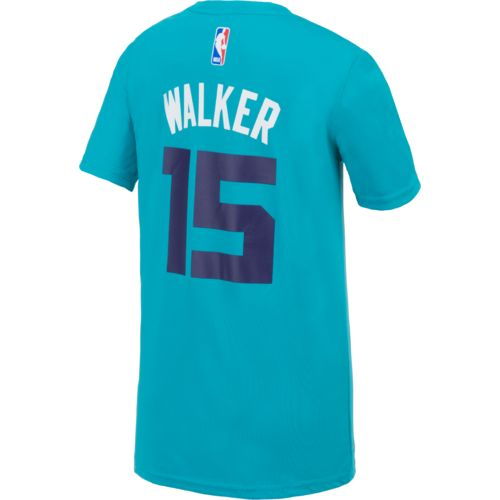 adidas Boys' Charlotte Hornets Kemba Walker No. 15 Flat Player T-shirt - view number 1