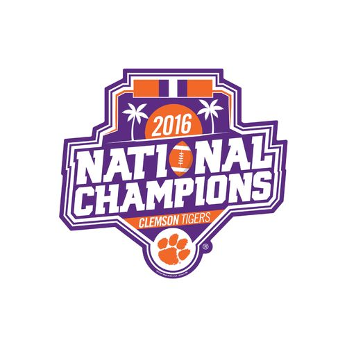 WinCraft Clemson University 2016 National Champions Plastic Sign