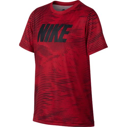 Nike Boys' Dry Carbon Swoosh Short Sleeve T-shirt