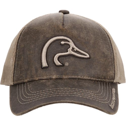Ducks Unlimited Men's Weathered Cotton Mesh Back Cap