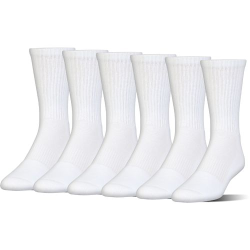 Under Armour Charged Cotton 2.0 Crew Socks 6 Pack