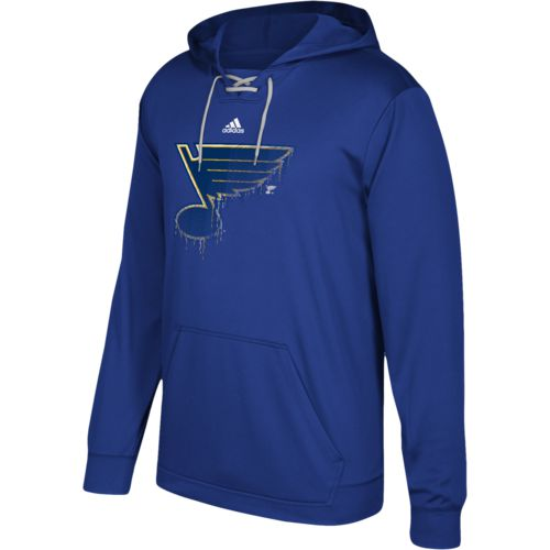 adidas Men's St. Louis Blues Drifting Performance Fleece Hoodie