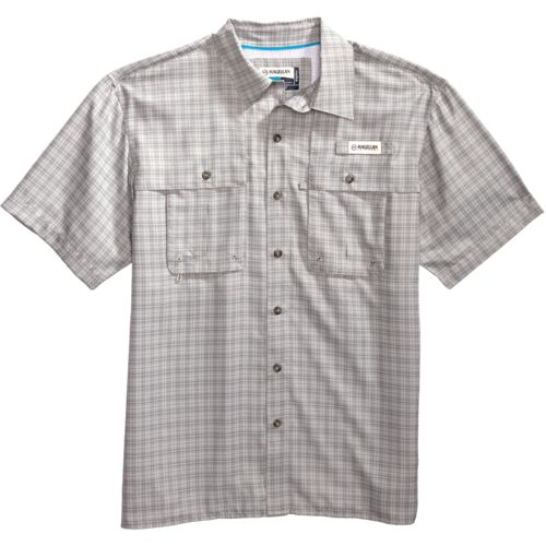 Magellan Outdoors Men's Aransas Pass Tonal Plaid Short Sleeve Shirt - view number 4