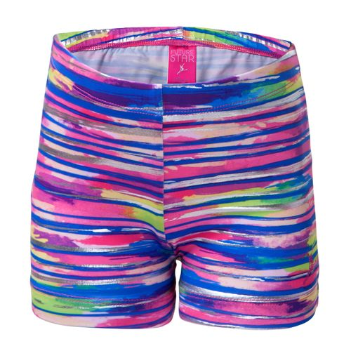 Capezio Girls' Future Star Allover Wet n Wild Brushstrokes Printed Short
