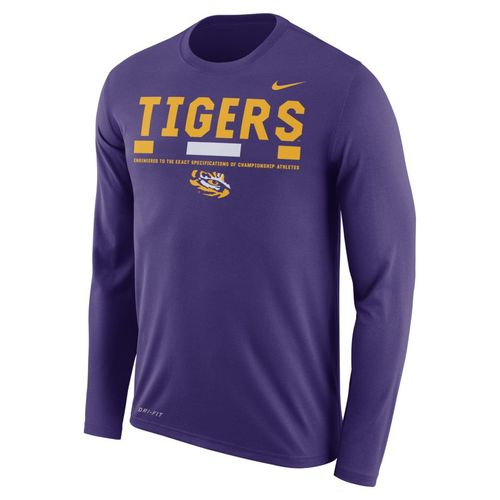 Nike™ Men's Louisiana State University Dry Legend Long Sleeve Staff T-shirt