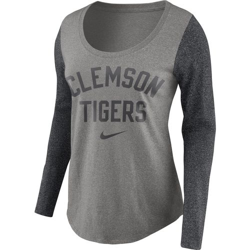 Nike Women's Clemson University Heavyweight Elevated Essentials Long Sleeve T-shirt