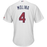 Majestic Men's St. Louis Cardinals Yadier Molina Stars and Stripes Cool Base Jersey - view number 1