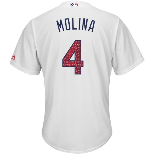Majestic Men's St. Louis Cardinals Yadier Molina Stars and Stripes Cool Base Jersey
