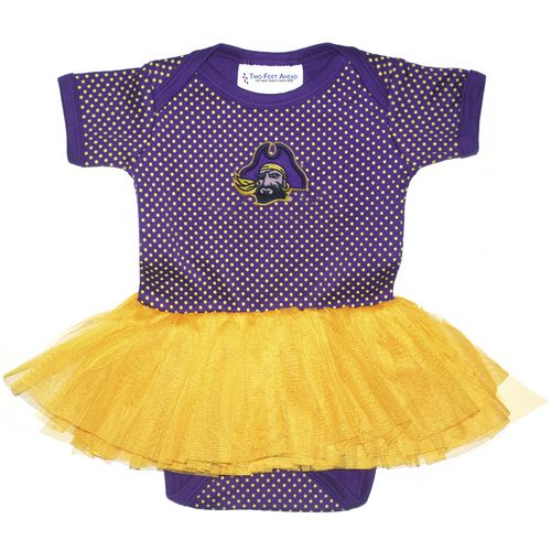 Two Feet Ahead Infant Girls' East Carolina University Pin Dot Tutu Creeper - view number 1