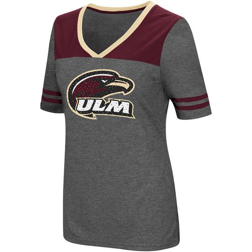 Colosseum Athletics Women's University of Louisiana at Monroe Twist V-neck 2.3 T-shirt
