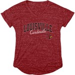 Blue 84 Women's University of Louisville Dark Confetti V-neck T-shirt - view number 1