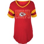 5th & Ocean Clothing Women's Kansas City Chiefs Sleeve Stripe Fan T-shirt - view number 1