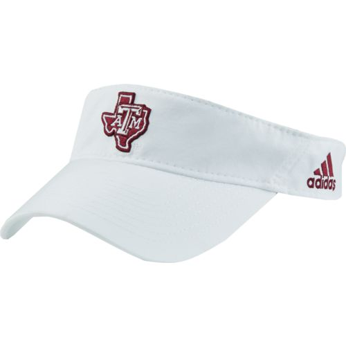 adidas Men's Texas A&M University Coach Adjustable Visor - view number 2