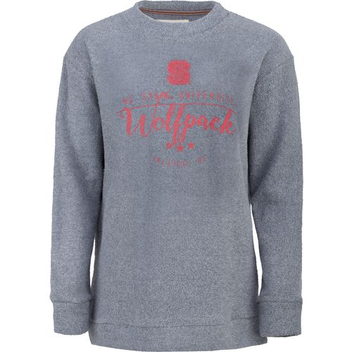 Three Squared Juniors' North Carolina State University Finley Comfy Terry Pullover