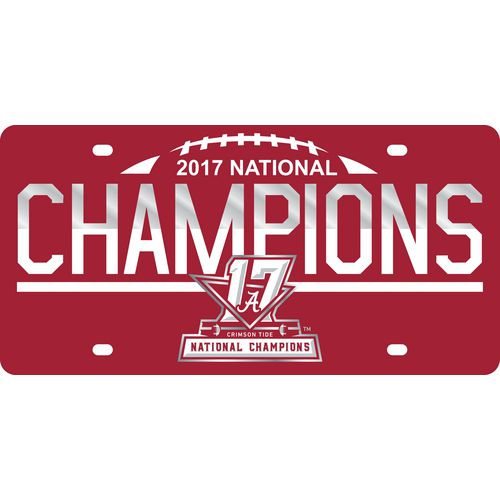 Stockdale University of Alabama 2017 CFP National Champs Football License Plate