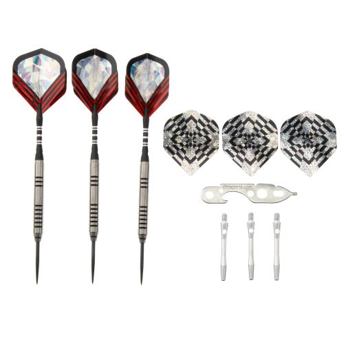 DMI Sports Nodor 90% Tungsten Steel-Tip Darts Set