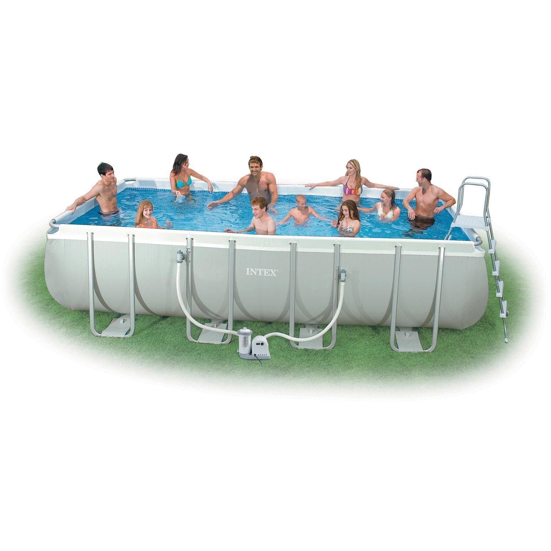 Intex 9 39 X 18 39 X 52 Rectangular Ultra Frame Pool Set Academy
