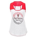Blue 84 Juniors' Texas Tech University Burnout Raglan Tank Top