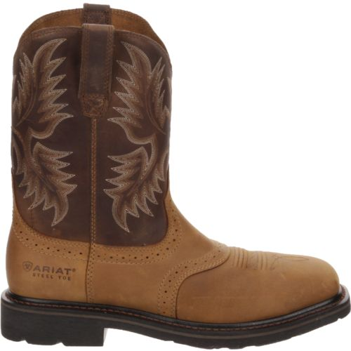 Ariat Men's Sierra Wide Square Toe Western Wellington Work Boots