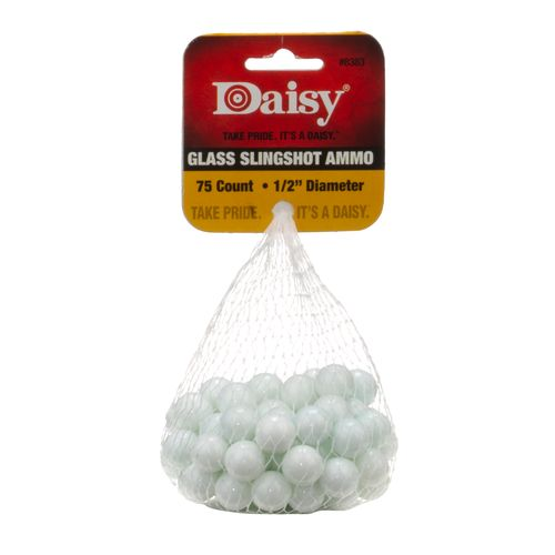 "Display product reviews for Daisy® Powerline 1/2"" Glass Slingshot Ammunition"