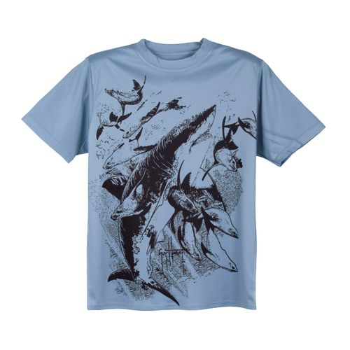 Guy Harvey Youths' Chasing Performance T-shirt