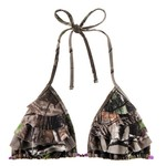 Realtree Junior's APG Stacked Ruffle Slider Triangle Bra Swim Top