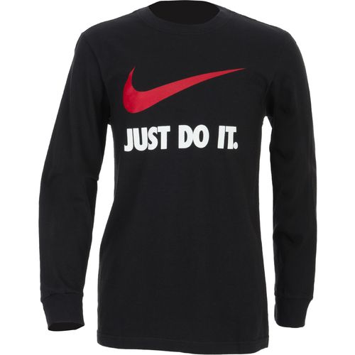 Image for Nike Boys' Just Do It Swoosh Long Sleeve T-shirt from Academy