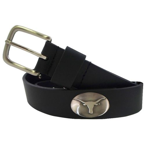 CLC Men's University of Texas Smooth Concho Belt