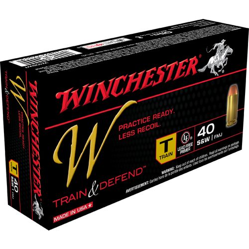 Display product reviews for Winchester Train and Defend .40 S&W 180-Grain Centerfire FMJ Pistol Ammunition