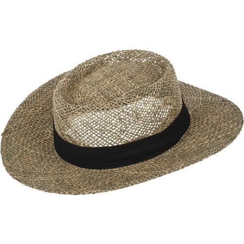 Wilson Men's Ultra Sea Grass Gambler Straw Hat with Solid Band