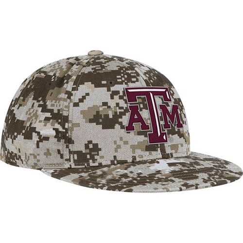 adidas™ Men's Texas A&M University Digital Camo Flat Brim Flex Cap