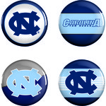WinCraft University of North Carolina Buttons 4-Pack