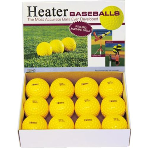 Display product reviews for Heater Sports Pitching Machine Baseballs 12-Pack