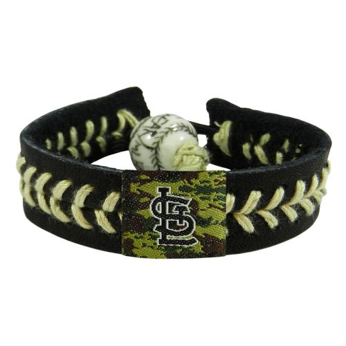 GameWear Adults' St. Louis Cardinals Camo Baseball Bracelet