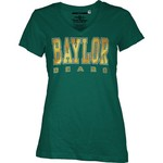 Three Squared Juniors' Baylor University Missy Bling Party T-shirt