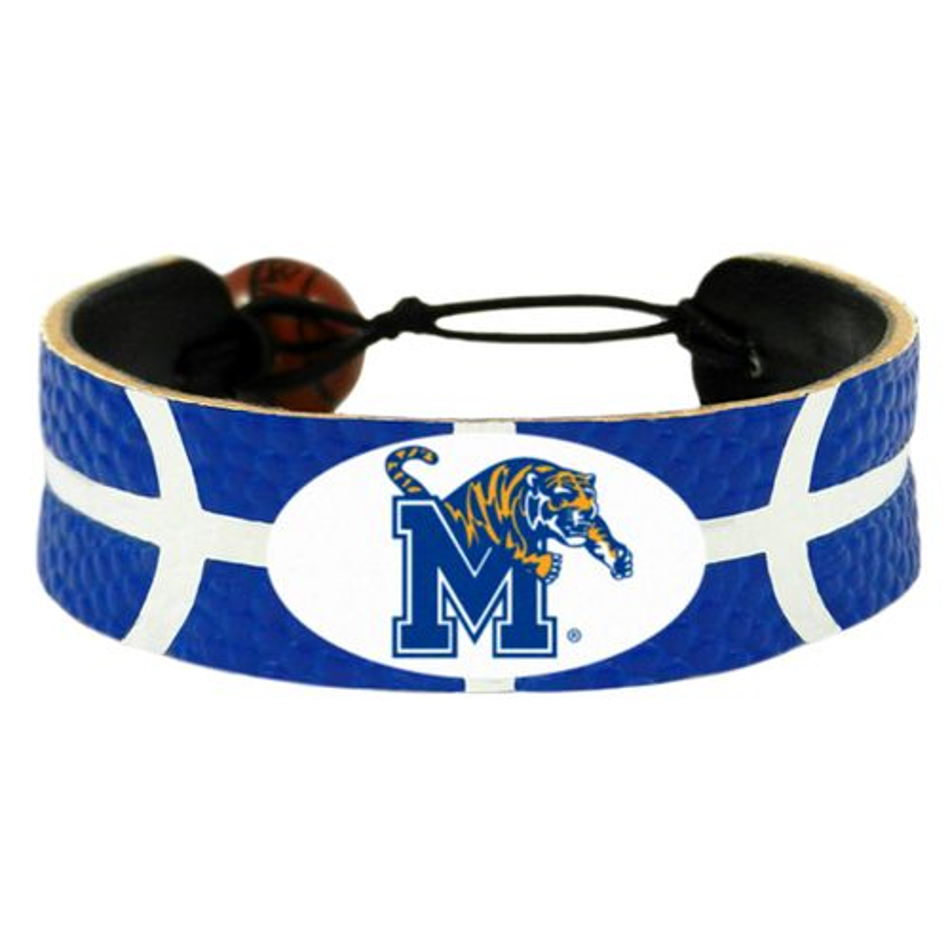 GameWear Adults' University of Memphis Team Color Classic Basketball Bracelet