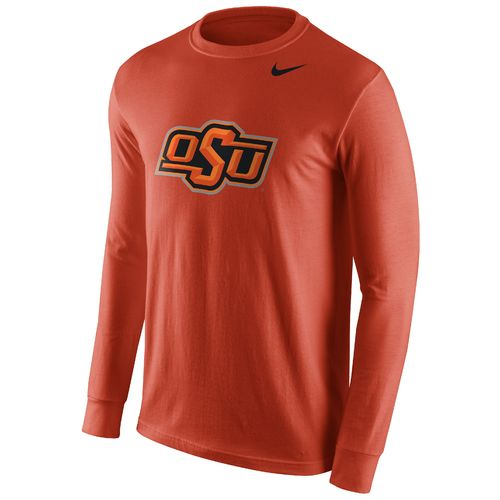Nike™ Men's Oklahoma State University Cotton Long Sleeve Logo T-shirt