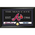 The Highland Mint Atlanta Braves Man Cave Bronze Coin Photo Mint