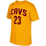 adidas Men's Cleveland Cavaliers LeBron James No. 23 High Density T-shirt - view number 1