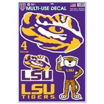 WinCraft Louisiana State University Multiuse Decals 4-Pack