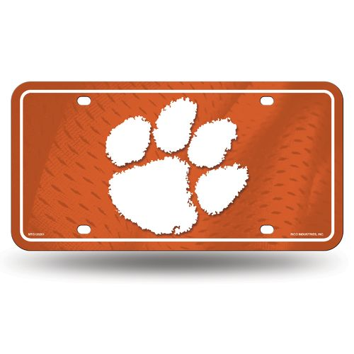 Display product reviews for Rico Clemson University Metal Auto Tag