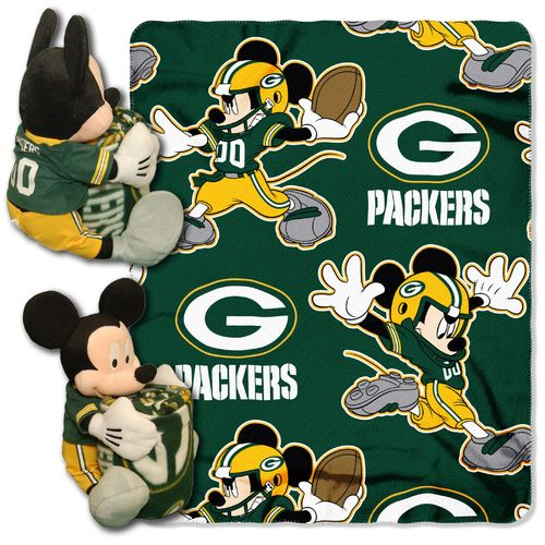 The Northwest Company Green Bay Packers Mickey Mouse Hugger and Fleece Throw Set